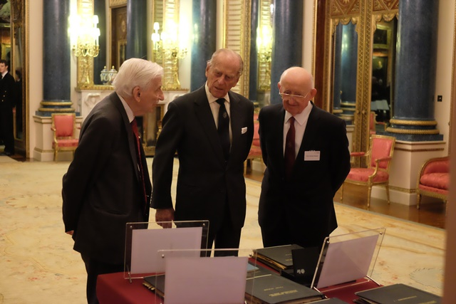 Jost Report 50 years - Peter Jost, HRH Prince Philip, Duncan Dowson